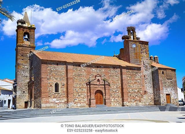 Monasterio church San Pedro apostol by via de la Plata way in extremadura of spain