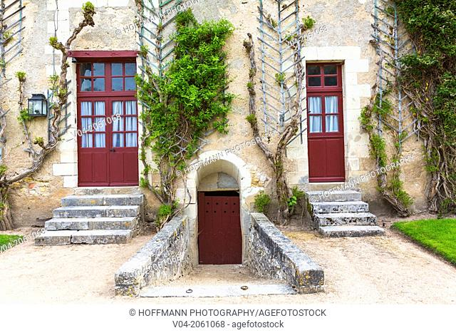 Close up of a building on the 16th century farm on the grounds of the Château de Chenonceau (Chenonceau Castle) in the Loire Valley, Indre-et-Loire, France