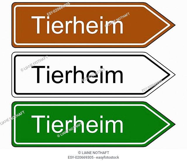 Schild Tierheim