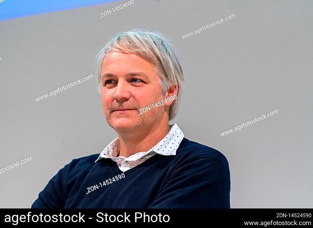 FRANKFURT AM MAIN, Germany - October 18 2019: Reidar Müller (author) at 71st Frankfurt Book Fair / Buchmesse Frankfurt