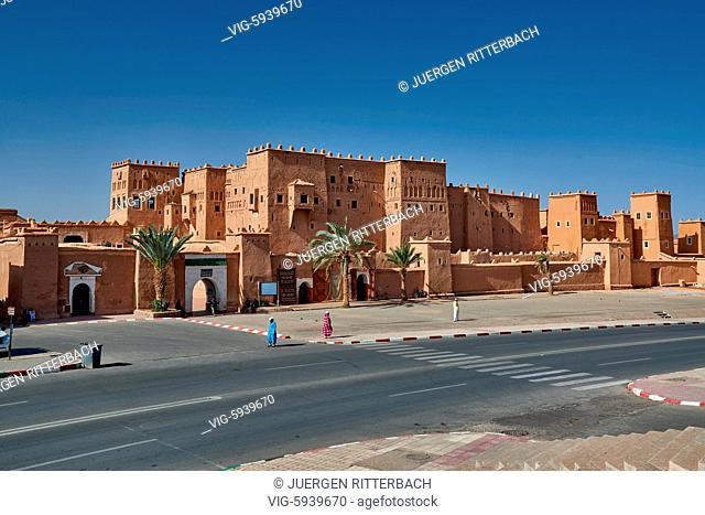 MOROCCO, OUARZAZATE, 19.05.2016, outside shot of Kasbah Taourirt, Ouarzazate, Morocco, Africa - Ouarzazate, Morocco, 19/05/2016