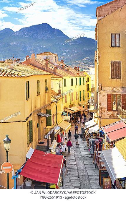 Calvi Old Town, Balagne, West Coast, Corsica Island, France
