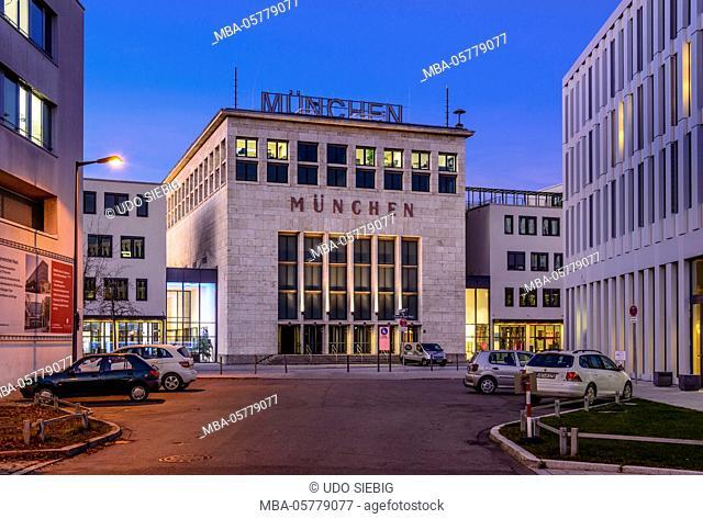 Germany, Bavaria, Upper Bavaria, Munich, Messestadt Riem, Neue Messe München, coat of arms hall