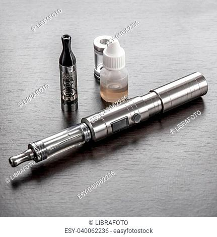 advanced vaping device, e-cigarette on table