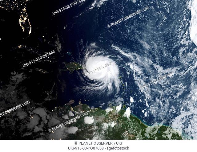 Hurricane Maria over Puerto Rico in 2017