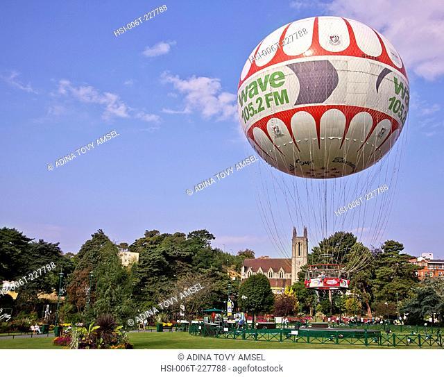 United Kingdom. England. Dorset. Bournemouth. Hot air balloon