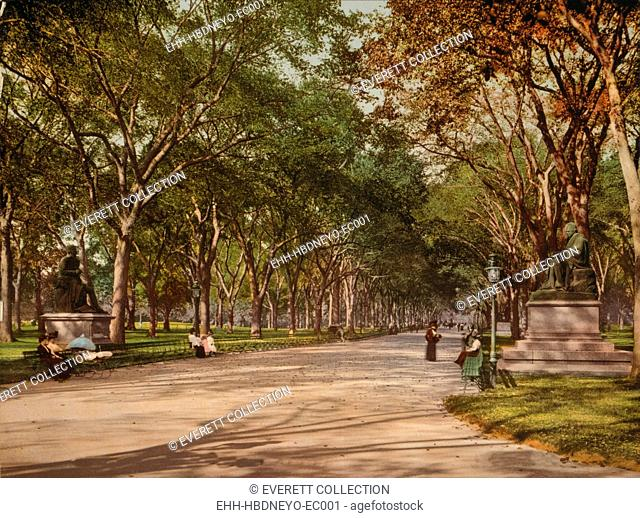 Central Park, New York City, photochrom, 1901