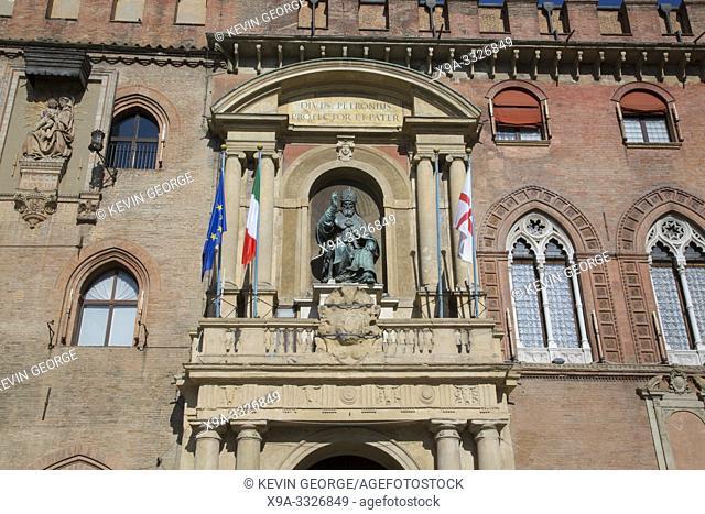 Facade of City Hall, Bologna, Italy