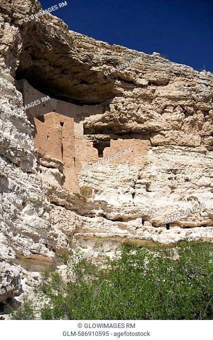 Ruins of a castle, Montezuma Castle, Montezuma Castle National Monument, Arizona, USA
