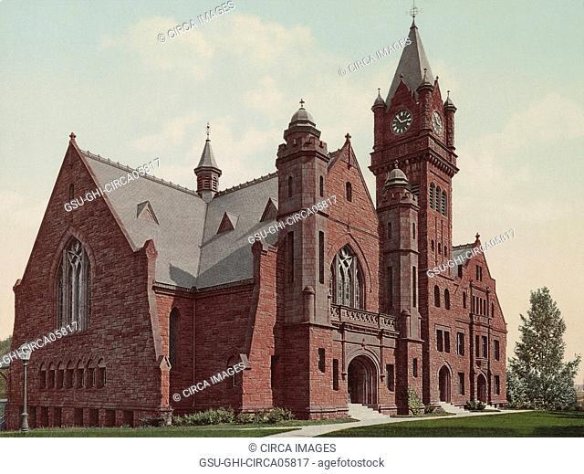 Mary Lyon Hall, Mount Holyoke College, South Hadley, Massachusetts, USA, Detroit Publishing Company, 1900