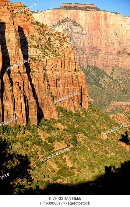 North America, American, USA, Southwest, Colorado Plateau, Utah, Zion, National Park, Mount Carmel Highway