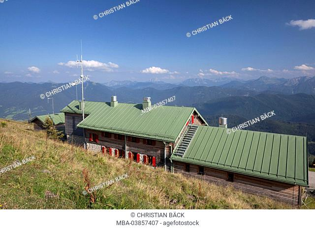 Brauneck summit house at Brauneck (mountain), Lenggries, Upper Bavaria, Bavaria, Germany