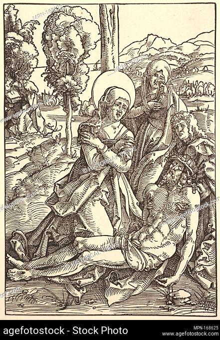 Lamentation for Christ. Artist: Hans Baldung (called Hans Baldung Grien) (German, Schwäbisch Gmünd (?) 1484/85-1545 Strasbourg (Strassburg)); Date: 1510;...