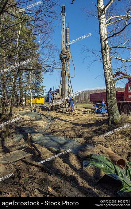 Ongoing construction of the network of water boreholes for monitoring of Turow mining impacts in the surroundings of the Turow open-pit lignite mine