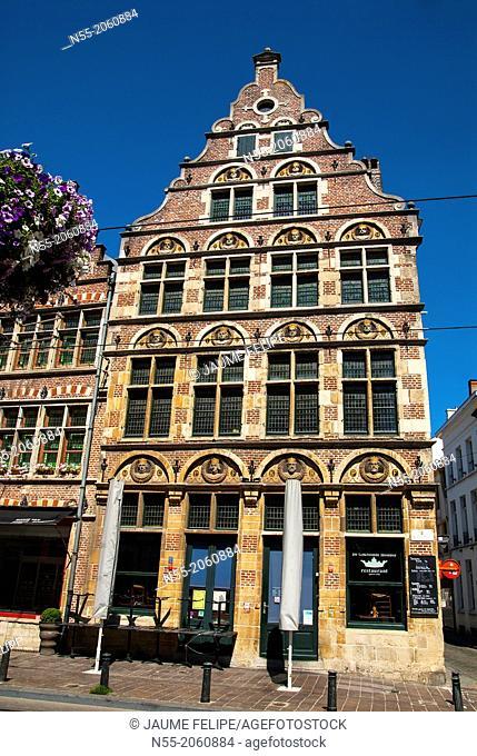 Facade. Ghent, West Flanders, Belgium