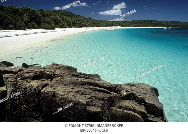 Whitehaven Beach on Whitsunday Island near Hamilton Island, Whitsunday Islands, Queensland