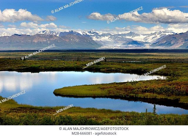 Central Alaska Range from the Denali Highway, Alaska, USA