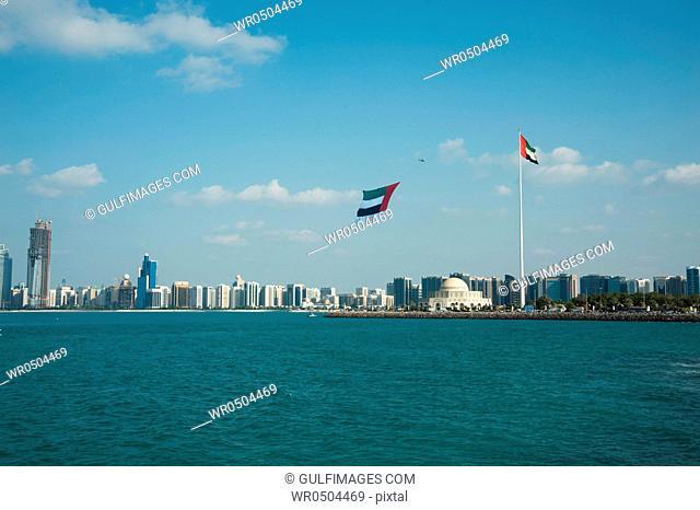 Abu Dhabi city skyline, UAE