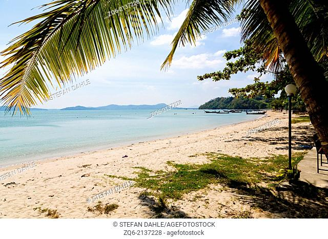 Beach near Chao Ley on Ko Diray, Phuket Thailand