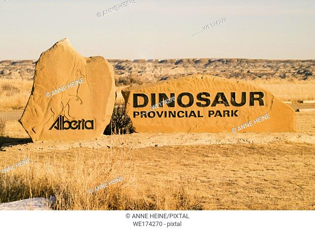 Entrance of Dinosaur Provincial PArk in Alberta, Canada