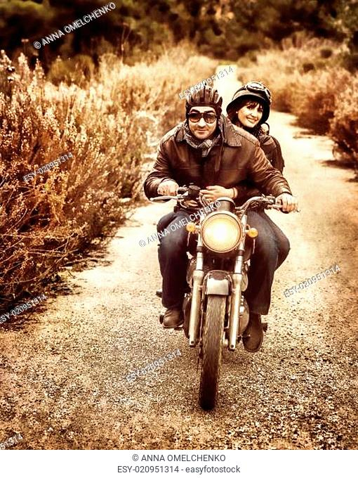 Riding on motorbike