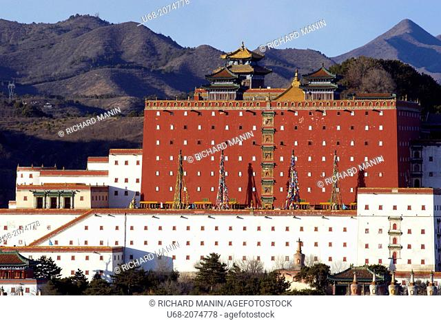 China, Hebei Chengde, summer residence of the Manchu Emperors of the early Qing Dynasty, Zongcheng Putuo temple built between 1767 and 1771 during the reign of...
