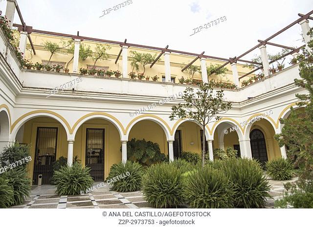 Andalusian courtyard in Jerez de la Frontera, Cadiz province, Andalusia, Spain