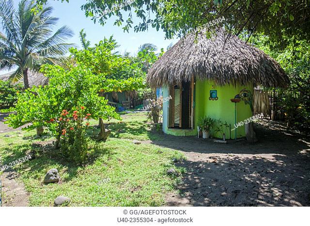 Guatemala, El Paredon, beach cabin