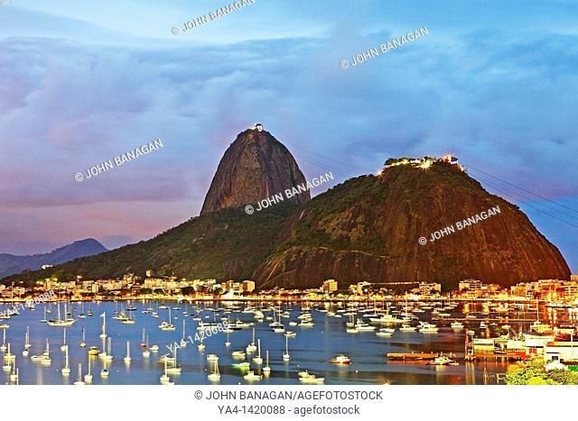 View of Sugar Loaf, Botafogo, Rio de Janeiro, Brazil