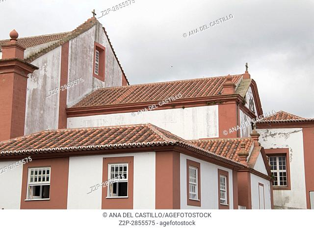 Angra do Heroismo is World Heritage site in Azores islands Portugal, on January 2017. Convent of Sao Francisco