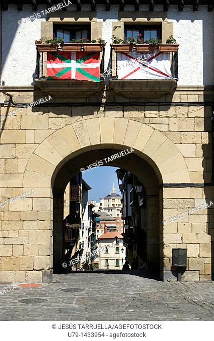 Old town, Hondarribia, Guipuzcoa Gipuzkoa, Basque Country, Spain
