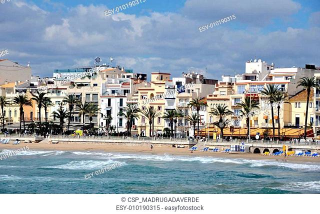 Coastline of Sitges, Spain