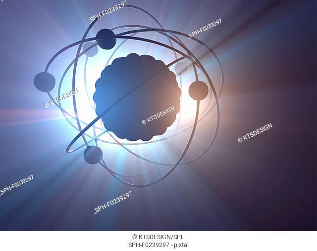 Atomic structure, illustration