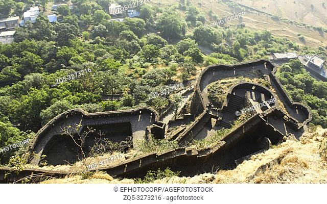 Lower Ramparts of Lohagad Fort, Pune district, Maharashtra, India