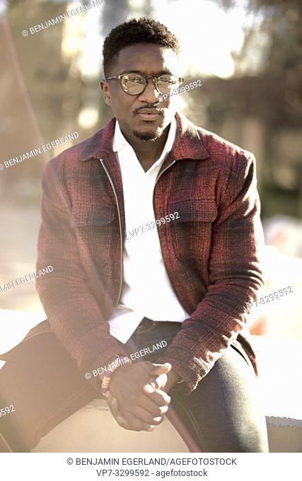 African man, in Frankfurt, Germany