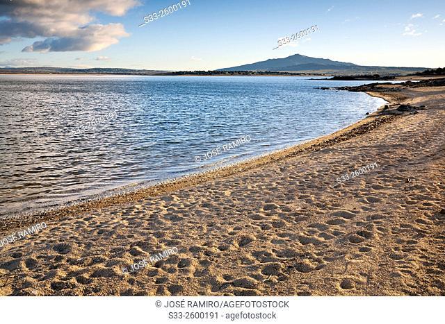 Santillana reservoir and St. Peter hill, Manzanares el Real, Madrid, Spain