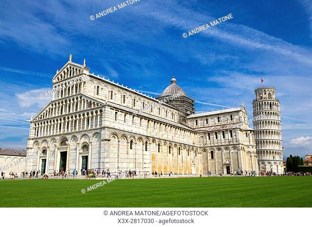 The cathedral of the Assumption, Piazza dei Miracoli, Pisa, Tuscany, Italy