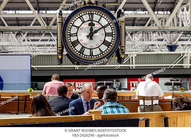 Cafe & Clock, Waterloo Station, London, England
