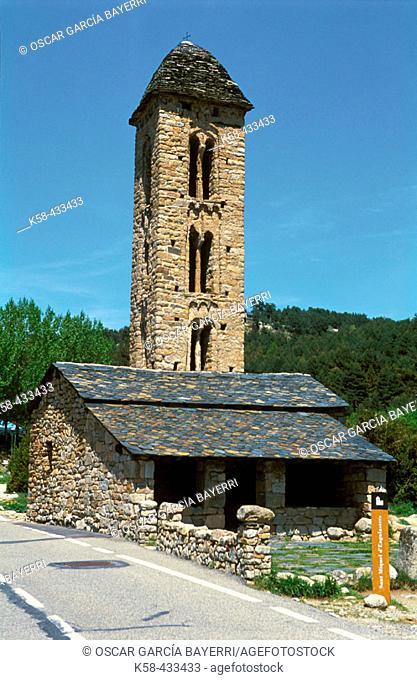 Sant Miquel d'Engolasters church. Les Escaldes-Engordany. Andorra