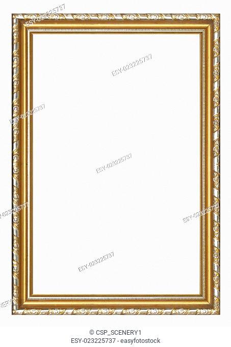 Picture frame gold wood frame