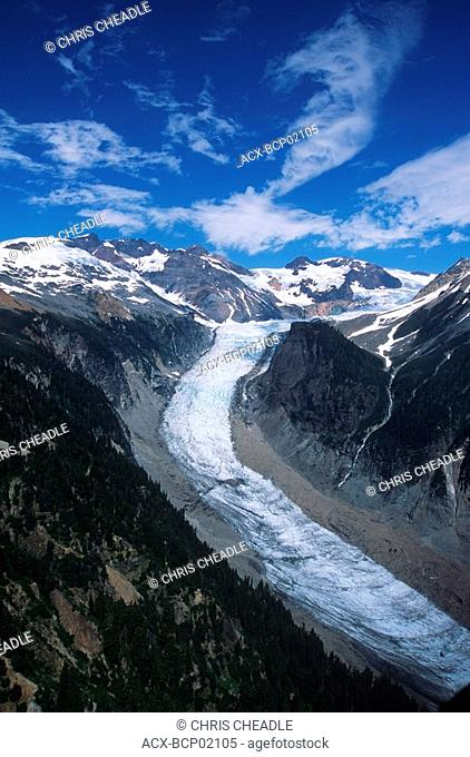 Nimmo Bay Heli Ventures Lodge - aerials of surrounding coast range scenery - glacier, British Columbia, Canada