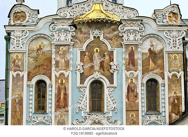 Trinity gate Church, painting frescos, Pechersk Lavra territory, Kiev, Ukraine