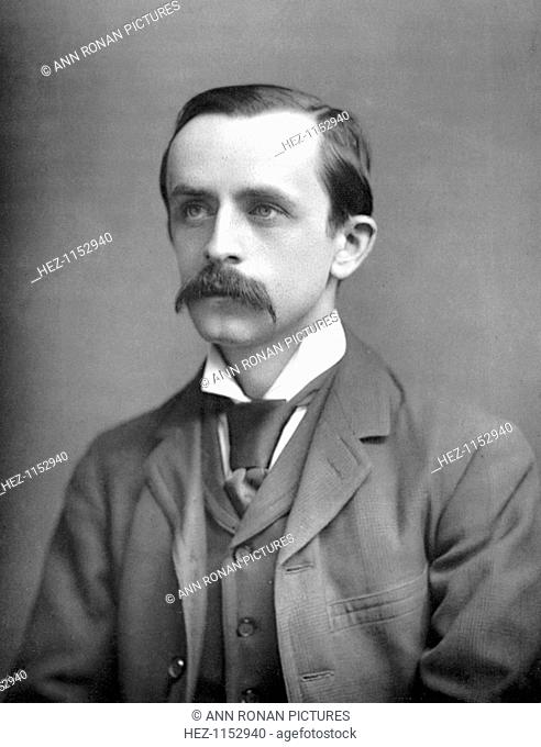 James Matthew Barrie (1860-1937), Scottish playwright and novelist, c1890. Peter Pan, The Admirable Crichton and Quality Street are among his best known works