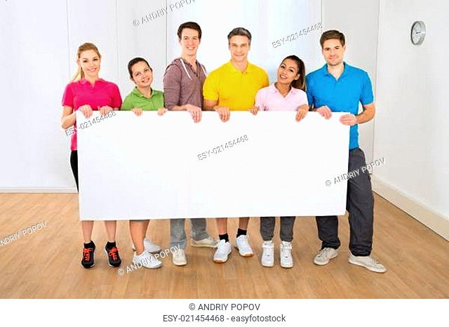 Multiethnic People Holding Blank Placard