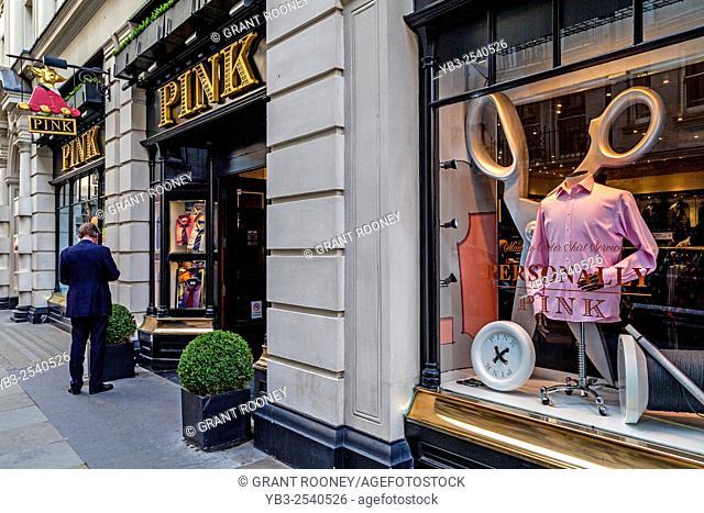 Thomas Pink Exclusive Mens Shirt Shop, Jermyn Street, Mayfair, London