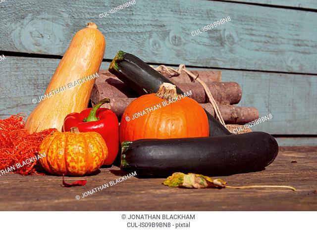 Variety of fresh vegetables
