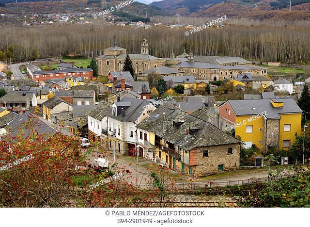 General view of San Miguel de las Dueñas, Leon, Spain