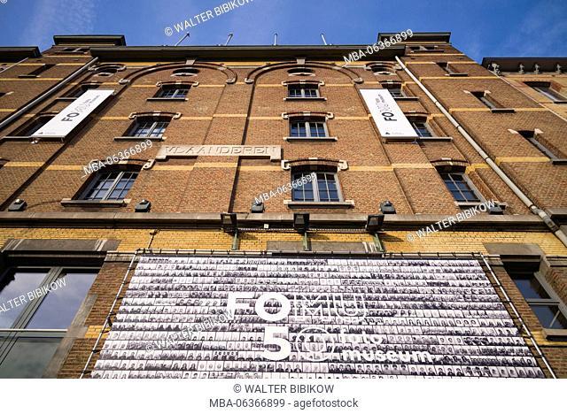 Belgium, Antwerp, FoMu photo museum, exterior