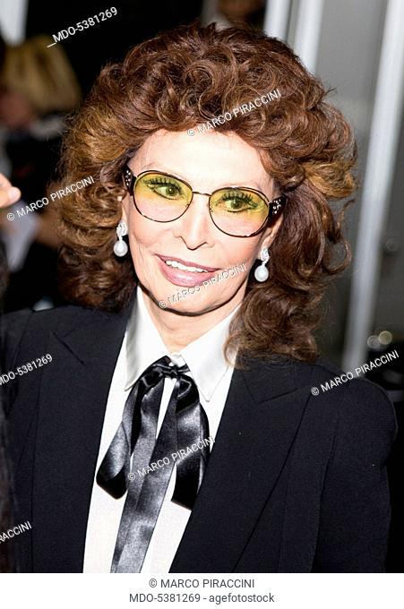 The actress Sophia Loren (Sofia Villani Scicolone) in Milan. Milan, Italy. 6th October 2014