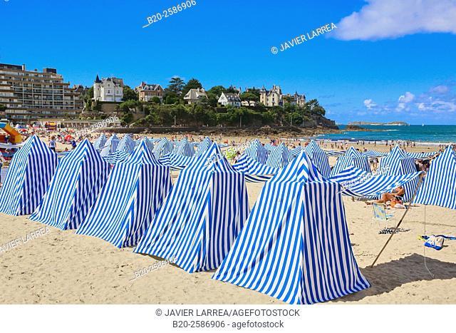 Plage de l'Écluse, Eclus beach, Dinard, Emerald Coast, Côtes d'Armor, Brittany, Bretagne, France